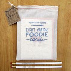 Rustic packaging... plus, it's foodie cards! #foodie #design #packaging www.hypegroup.net