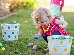 Make a Polka Dot Easter Bucket :: The TomKat Studio for HGTV