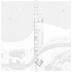 The Mediterranean, Joaquim Sellas, Ceuta, ESP Architecture Site Plan, Architecture Graphics, Concept Architecture, Architecture Drawings, Landscape Architecture, Architecture Visualization, Victorian Architecture, Landscape Plans, Site Plan Rendering