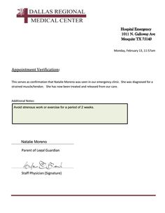Free Doctors Note Template  Free Medical Excuse Forms  Pdf  On