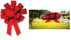 RED Velvet Car Bow * Click image for more details.