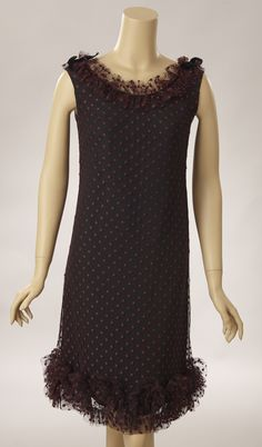 Black Polka Dot Net Over Rayon Baby Sheath****PRICE REDUCTION*****