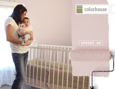 Colorhouse's Sprout 06 would go perfect with our pale pink moon cocoon sleep sack. #mooncoon #colorhousepaint #sweetdreamsweepstake