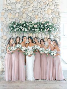 A Bonnet Island Estate Wedding with Samantha + Tony Mauve Wedding, Floral Wedding, Rose Wedding, Wedding Heels, Pink Green Wedding, Dream Wedding, Green Weddings, Wedding Wall, Summer Weddings