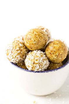 These mango coconut energy balls make for the perfect snack! They're portable…