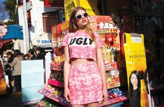 Go graphic in Tokyo with Lazy Oaf's summer '14 lookbook
