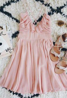 Blush Skater Dress - Trendslove