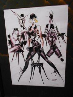 Croquis des costumes pour la tournée Blonde Ambition Tour de Madonna (1990)