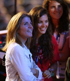 Caroline Kennedy Schlossberg and daughters Rose Schlossberg and Tatiana Schlossberg, 2008.