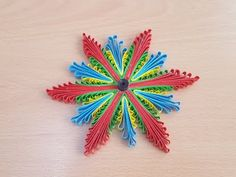 how to make Quilling Flowers using a hair comb by art life - YouTube
