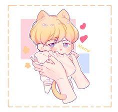 [ @sudadaw  ] Mochi, Cute Giraffe Drawing, Jimin Fanart, Bts Chibi, Bts Jimin, Bts Wallpaper, Cute Art, Character Inspiration, Anime