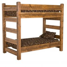 Honey Barnwood Bunk Bed