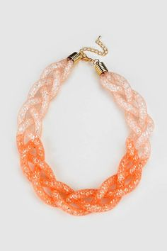 Sunset Capri Necklace Filled with Crystal   Women's Clothes, Casual Dresses, Fashion Earrings & Accessories   Emma Stine Limited