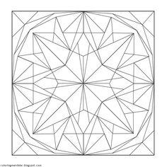 Geometric Coloring Pages, Mandala Coloring Pages, Coloring Book Pages, Coloring Sheets, Pyrography Designs, Geometric Shapes Art, Free Adult Coloring Pages, Mandala Dots, Shape Art