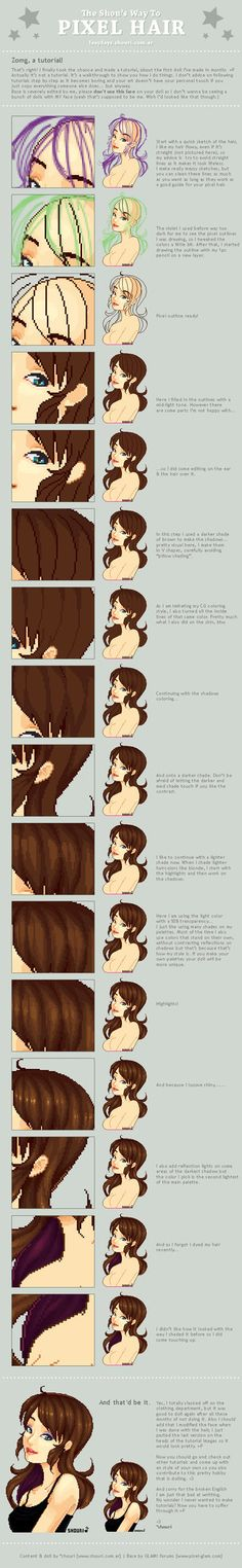 The Shou's Way To Pixel Hair by ShouriMajo