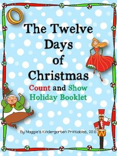 This little holiday booklet allows students to  sing/read the number words that represent each element in the song.  Additionally, students will  practice showing how many in the ten frames,  then form each number properly by tracing a font with directional arrows.