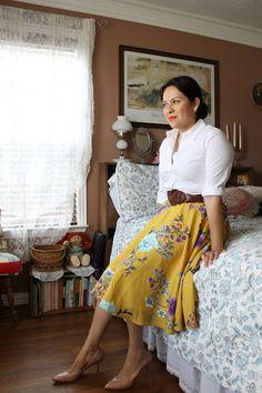 Sunday Best: Floral Skirt | A Skirt a Day