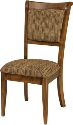 Adair Amish Dining Room Chair This transitional style furniture combines elements of both the traditional and the contemporary. Modern Dining Chairs, Dining Table Chairs, Upholstered Dining Chairs, Dining Room Furniture, Side Chairs, Dinning Set, Outdoor Furniture, Amish Furniture, Craftsman Furniture
