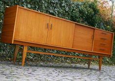 Sideboard 60er Jahre 60er gustav bahus teak sideboard kommode 60s teakwood credenza