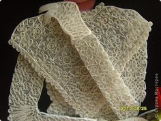 Quilled lace dress with tutorial