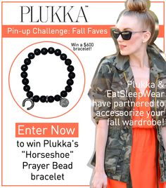 I just entered the Plukka Pin-Up Challenge for my chance to win a grey diamond, onyx bead and black rhodium silver bracelet for fall, click this pin to enter yourself! #Plukka