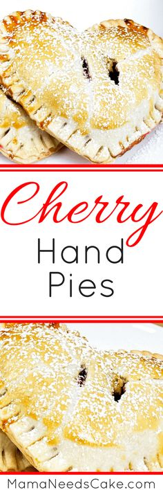 """Cherry Hand Pies - I have made these pies for a few years now and my family always enjoy them. These Cherry Hand Pies are a great treat to make for your family or friends for Valentine's Day or just to say, """"I love you."""" #pies #handpies #cherry #dessert #baking #valentinesday #valentine #recipe #greatgift #pastry #pastries #quickandeasy"""