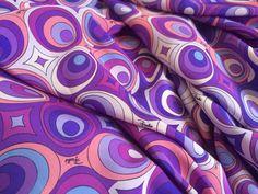EMILIO PUCCI MADE IN ITALY BIG PURE SILK FABRIC DRESS OR SHIRT CM 200 X 140 #EMILIOPUCCI #pucci dress #silk #silkfabric #silkdress
