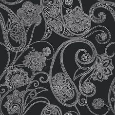 """Candice Olson Shimmering Details Dotted 33' x 20.5"""" Paisley Wallpaper"""