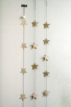 paper stars garland.