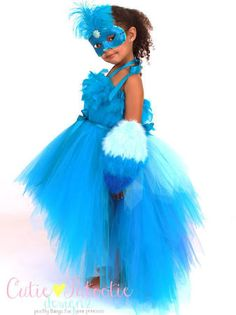 Blue Macaw Parrot Halloween Costume - 4-5 Toddler Girl