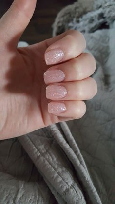 Short naked nails with glitter inspiring women - . - Short bare nails with glitter inspirational women - # . Cute Acrylic Nails, Cute Nails, Pretty Nails, Short Nails Acrylic, Short Acrylics, Nude Nails With Glitter, Pink Sparkle Nails, Maroon Nails, Bright Gel Nails