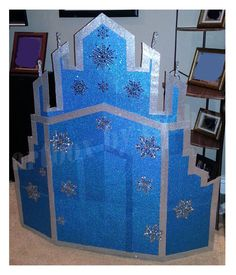 Frozen Castle Size: 60 inches x 50 inches Materials: cardboard, glitter craft…