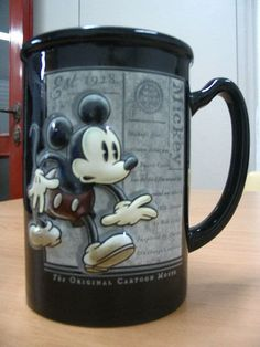 Mickey Mouse mug!  I need one of these!