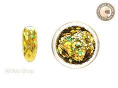 2 x Gold Diamond Shape Holographic Glitter / Nail Art Craft Holographic Glitter, Glitter Nail Art, Fingernail Designs, Nail Art Supplies, Quality Diamonds, Diamond Shapes, Arts And Crafts, Gemstone Rings, Nail Polish