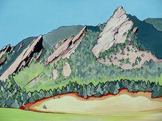 Boulder Colorado Flatirons by ~TimConroyArt on deviantART
