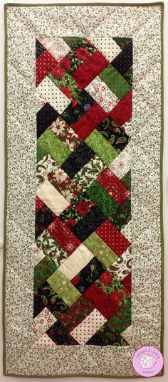 camino de mesa #patchwork #handmade #navidad