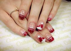 Christmas nails - 65 Cute Christmas Nails                                                                                                                                                                                 More