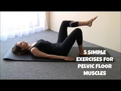 5 Pilates Exercises for Pelvic Floor Muscles - Watch Video Pilates Training, Pilates Workout, Rebounding Exercise, Pilates Video, Yoga Videos, Workout Videos, Pelvic Floor Exercises, Core Exercises, Prolapse Exercises