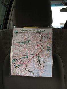 """Are we there yet?"" Travel map for kids.  from Creekside Learning"