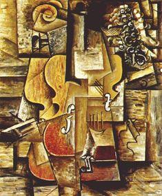 Pablo Picasso – Violin and Grapes