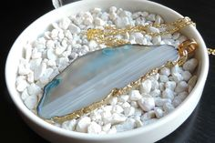 DIY Gilded Agate Necklace  - Darby Smart