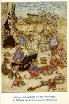✽ arthur rackham - from 'wind in the willows'