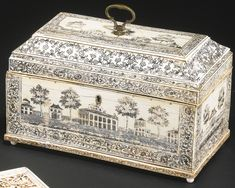 An Anglo-Indian engraved ivory tea caddy<br>Vizagapatam, last quarter 18th century | Lot | Sotheby's