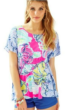 Swept by the tides Kaliko caftan top