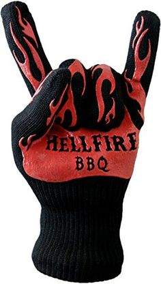 Show the fire who is the boss! This HellFire BBQ Glove will help him dominate the grill as never before. No more singed knuckle hair while for your carnivore while he's trying to flip a ribeye and that's why this made our list of unique camping gifts for men. http://www.campingforfoodies.com/unique-camping-gifts-for-men/