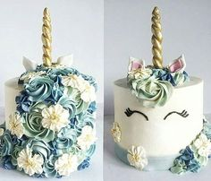 Unicorn cake is my favourite cake of the years 2016. I am fan of these cakes.  Gâteaux licornes ont été mes gateaux préférés de l'année 2016. Unicorn cake by @sugarbitesthebakery  #unicorns #unicorn #blue  #unicorncake #flower #flowers #colorful #pastel #gold #pink #white #donuts #donut #macaron #meringue #eclair #food #foodporn #cake #cakes #cakedesign #baker #bakery #pastry #patisserie #amourducake #photooftheday