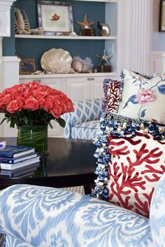 Gorgeous living room by Hydrangea Hill Cottage