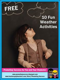 Visit this classroom teacher blog post for the top 10 FREE science activities for teaching weather unit study. You will find videos, songs, printable task cards, online games, worksheets, experiments, and more for teaching elementary school or homeschool students.