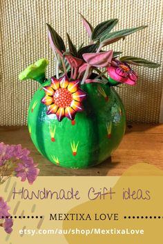 Beautiful cactus that will protect your indoor plants and make a happy decoration at home, made it and painted by hand, this indoor poot is full of colour and a make a happy gift for the lovers of collect plants. #decoratingclaypots #homedecorhandmade #handmadegiftideas #handmadegifts #handmadehome #decorationindoor #indoorpots #thankyougifts #bohodecorating #roomboho #bohohome #apartments #decoratingboho #bohohomedesign #bohemianhomedecor