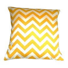 Items similar to Chevron Cushion Cover - Yellow on Etsy Spare Room, Chevron, Felt, Cushions, Throw Pillows, Yellow, Unique Jewelry, Cover, Handmade Gifts